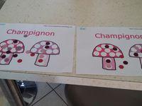 Gommettes champignons