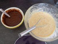 Marbré vanille chocolat dukan