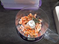 Rôti de lieu farci aux crevettes dukan