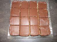 Carrés coco chocolat