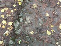 croix gravée dans la pierre &#x3B; vierge de vermus sur un superbe panorama