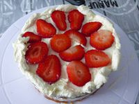 Layer Cake fraise et chantilly