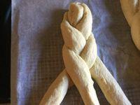 Pain tressé à la semoule de blé dur