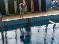 Special need students took part in a  special programme once a week in the swimming pool. Some of them learnt how to swim and some did exercises useful for the development of their bodies but also of their minds. The swimming section helped them to relax and was useful to motivate their well being at school