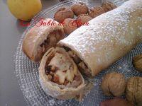 Strudel aux noix pommes et raisins secs