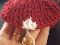 Avis : chaussons rouge au crochet