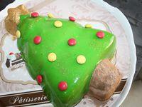 Le Sapin de Mousse au Chocolat, Ganache Vanille sur Financier