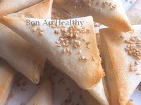 • Des samoussas au concombre et fromage frais •