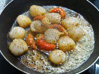 Noix de saint-jacques sauce au  poivre