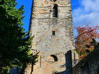 Culross Abbey : vous remarquez l'échelle ? Je suis monté et j'ai regardé, quand je disais que je travaillait à lutter contre mon vertige !