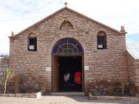 Église de Toconao, son clocher et son cactus !