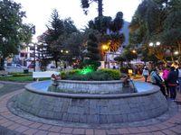 La place centrale de Baños