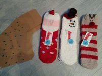 Lot de 3 Paires de Chaussettes de Noël Coxeer