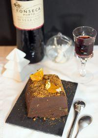 Terrine de chocolat croustillant à la clémentine confite