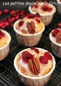 Muffins aux pommes, cranberries et noix de pécan