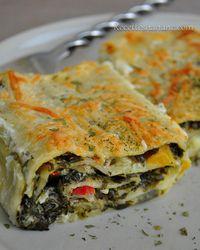 Lasagnes roulées aux légumes & sauce béchamel