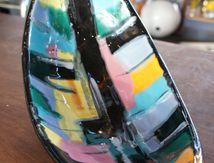 Céramique Longwy Pigalle faïence années 50 60 plat vide poche