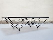 table basse design type paolo piva vintage retro annees 70 80 designer mobilier
