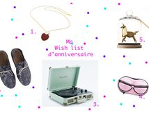 Ma wish list d'anniversaire...
