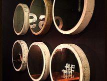 Vendu / Miroir rond vintage