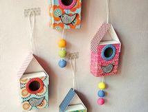 Des petites maisons d'oiseaux