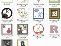 Monogramme R