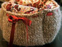 La corbeille tricotée