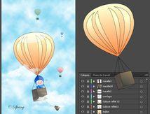 A bord d'une montgolfière.
