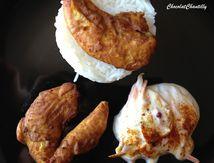 Poulet mariné Raïta et riz blanc