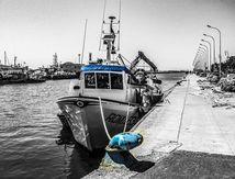 Le port du canal à Fiumicino