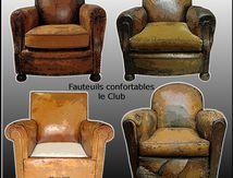 Les fauteuils confortables, le fauteuil club, Du Siège Au Décor,Tapissier d'Ameublement