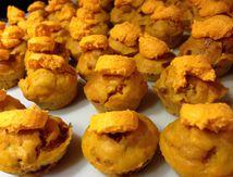 Muffins tomates séchées olives et mousse au parmesan