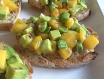 Bruschetta avocat mangue