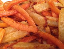 Frites light au paprika sans friteuse