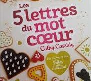 5 lettres du mot coeur, Cathy Cassidy, Nathan, Octobre 2017