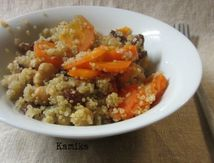 Tajine au quinoa et raisins secs