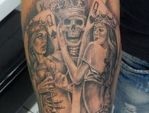 tattoo king of death arm