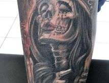 queen-skull-tattoo-arm-by-cristattoo83