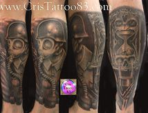 tatouage mollet dark