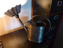 Lampe arrosoir métal recup détournement