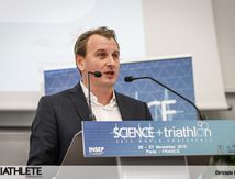 TRAVAUX DE SCIENCE ET TRIATHLON À L'INSEP. FRANCK BIGNET.