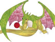Vitrail ' Dragon '