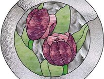 Vitrail ' Tulipes '