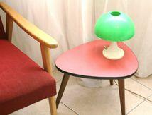 Petite Table tripode formica Rouge Années 60 - Vintage