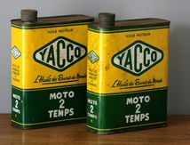 Ancien bidon d'huile Yacco Vintage