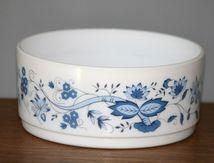 Saladier Arcopal décor fleur bleue Années 70 - Vintage