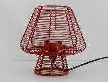 Lampe champignon grillagée rouge
