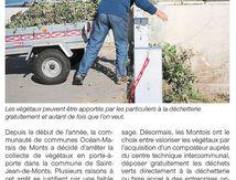 SAINT-JEAN DE MONTS, COLÈRE NOIRE POUR DÉCHETS VERTS.