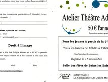 Atelier théâtre à Bains les Bains