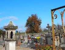 Sur le chemin du cimetière